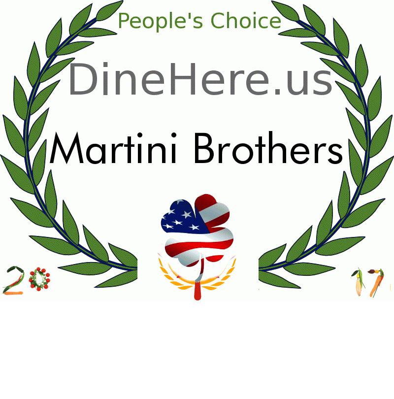 Martini Brothers DineHere.us 2017 Award Winner